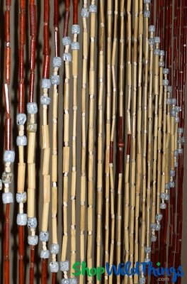 Natural Bamboo Beaded Curtain Mixed Materials Patterned Shopwildthings Com