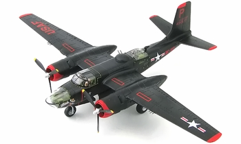"A-26B Invader Model, USAF, 37th BS, ""Monie"" - Hobby Master HA3220 - click to enlarge"