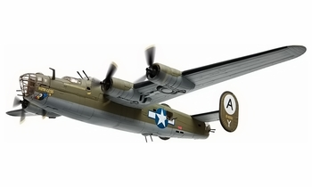 "B-24 Liberator Model, USAAF, ""'Ruth-less,"" 506th BS - Corgi AA34017 - click to enlarge"