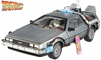 Back to the Future II DeLorean 1:18 Diecast Model - Hot Wheels Elite - click to enlarge