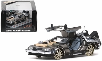 Back to the Future III DeLorean (Railroad) 1:43 Diecast Model - Vitesse - click to enlarge