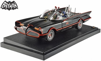 Batman 1966 TV Batmobile with Figures 1:18 Diecast Model - Hot Wheels - click to enlarge