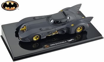 Batman 1989 Movie Batmobile 1:43 Diecast Model - Hot Wheels Elite - click to enlarge