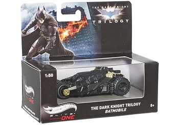 Batman Dark Knight Trilogy Batmobile 1:50 Model - Hot Wheels Elite One - click to enlarge