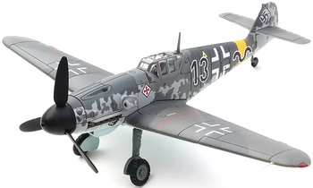 Bf 109 G-2 Model, Luftwaffe, 8./JG 52, Gunther Rall - Corgi AA27106 - click to enlarge
