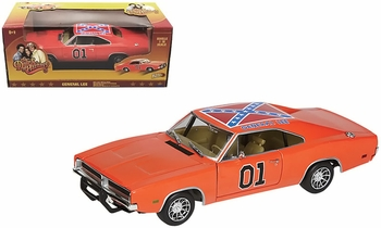 Dukes of Hazzard General Lee 1:18 Diecast Model - Johnny Lightning - click to enlarge