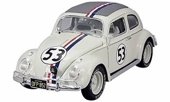 Herbie Goes to Monte Carlo VW Beetle Diecast Model - Hot Wheels Elite - click to enlarge
