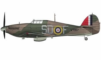 Hurricane Mk.I Model, RAF, James Lacey - Hobby Master HA8607 - click to enlarge