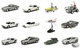 James Bond Film Vehicle Model Set of 12 - Kyosho (Japan)