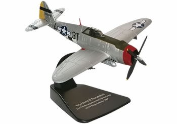 P-47 Thunderbolt Model, USAAF, 22nd FS - Oxford Diecast AC032 - click to enlarge