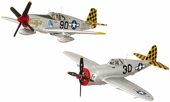 "P-47D & P-51B Model Set, USAAF, 325th FG ""Checkertails"" - Corgi US39914 - click to enlarge"