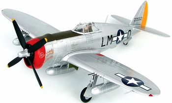 P-47D Thunderbolt Model, USAAF, Robert Johnson - Hobby Master HA8455 - click to enlarge
