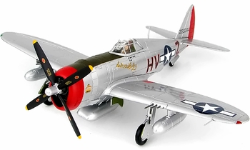 """P-47D Thunderbolt Model, USAAF, """"Silver Lady"""" - Hobby Master HA8456 - click to enlarge"""