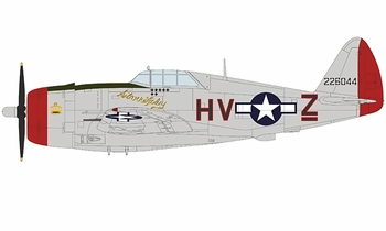 "P-47D Thunderbolt Model, USAAF, ""Silver Lady"" - Hobby Master HA8456 - click to enlarge"