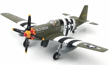 "P-51B Mustang Model, ""Old Crow"" (Signed) - Hobby Master HA8503A - click to enlarge"
