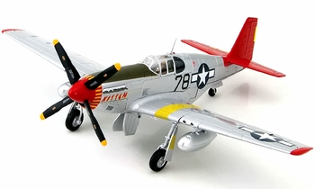 P-51C Mustang Model, USAAF, Charles McGee - Hobby Master HA8507B - click to enlarge