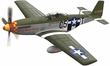 P-51D Mustang Model, USAAF, 364th FS, 'Pete' Peterson - Corgi AA27705 - click to enlarge