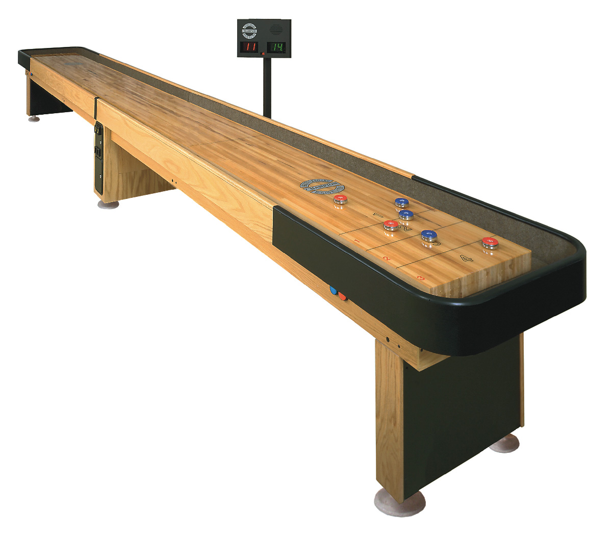 Foot Champion Championship Line Shuffleboard Table - Standard shuffleboard table