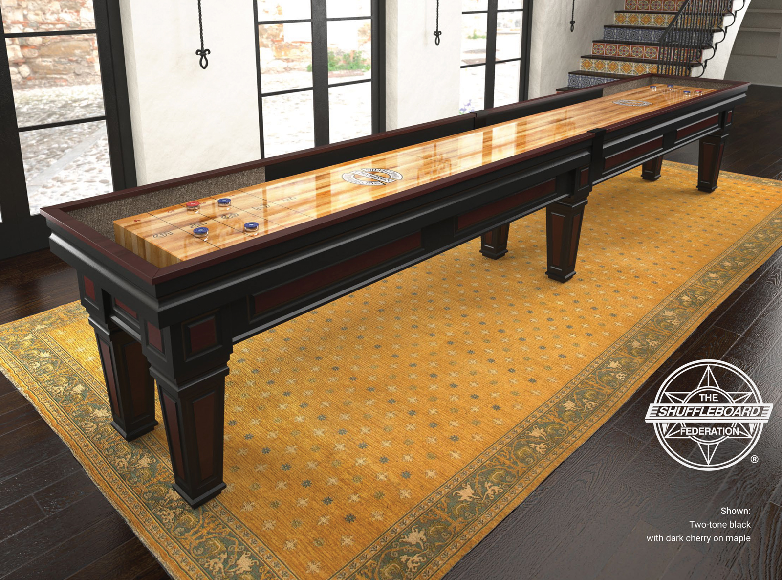 Champion Worthington Shuffleboard Table - Standard shuffleboard table
