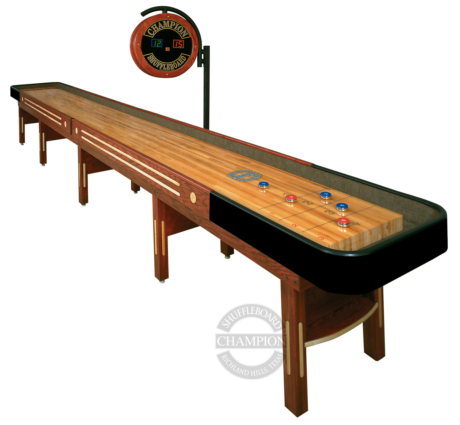 for wood pin room finish game hidden cherry table cabinets shuffleboard wine sale rack
