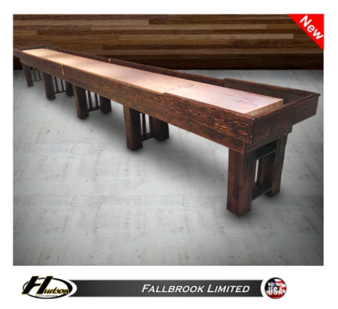 16 Hudson Fallbrook Limited Shuffleboard Table