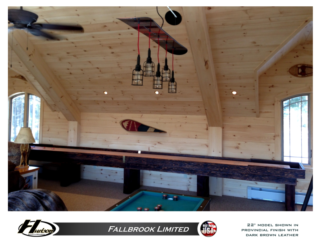 16 Foot Hudson Fallbrook Limited Shuffleboard Table Made in the USA
