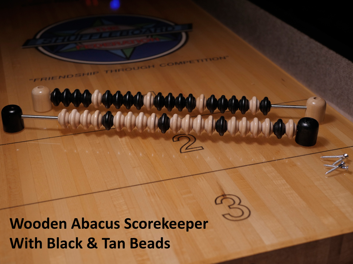 Abacus Style Manual Scorekeeper For Shuffleboard Tables