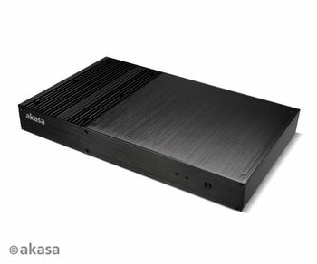 Akasa Galileo - Ultra-slim fanless Thin Mini-ITX case (AK-ITX09-BK)
