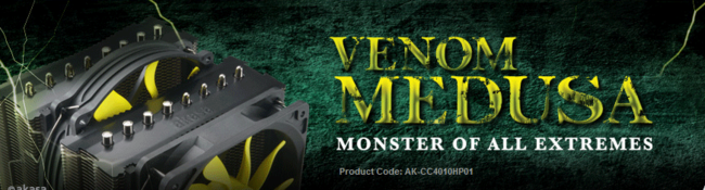 Akasa Venom Medusa CPU Cooler - Monster Heatsinks (AK-CC4010HP01)