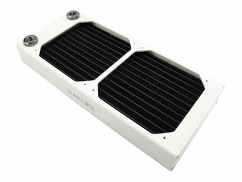 AX240 Dual Fan Radiator (White) V2 by XSPC