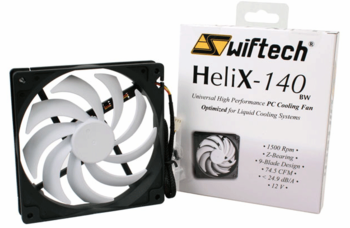 Swiftech Helix140 140x140x25mm Cooling Fan (HELIX-140-BW)