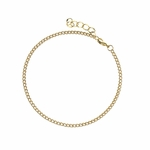 Anklet gold wheat rope