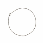 Anklet silver rope with tiny balls