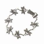 Bracelet antique silver dragonfly with magnetic clasp