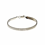 Bracelet chain silver flat nugget 7-1/2 inches