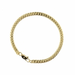 Bracelet Gold 7 1/2 Inch Wide Herringbone