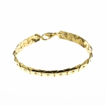Bracelet Gold large rope Chain 7-1/2 inch