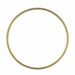 Bracelet gold stainless steel textured thin