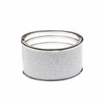 Bracelet silver solid glitter hinged bangle