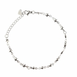 bracelet stainless steel tiny stars and balls
