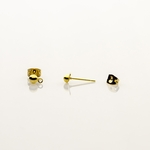 Components 1 pair gold 4mm posted half ball with loop