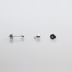 Components 1 pair silver posted 4mm half ball with loop