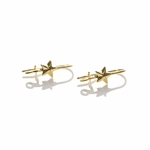 EarReplaceables Jewelry Components Gold star Kidney Wires 1 Pair
