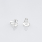 EarReplaceables Jewelry Components rubber ear clasp 1 pair