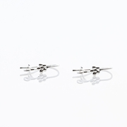 EarReplaceables Jewelry Components silver flower Kidney Wires 1 Pair