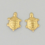 earring gold stainless steel posted small turtle