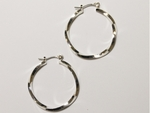 earring silver joint and catch 1 1/4 inch hoop