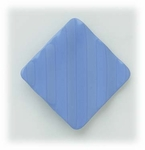 Enameled fluted square