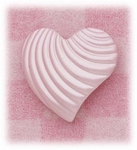 Enameled ribbed heart