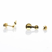 Jewelry Components gold 2 pair 5mm over 8mm pearl cups